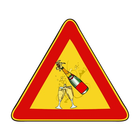 poner atencion: Atenci�n, Fiesta entrante - Una se�al que le indica que prestar atenci�n a una fiesta entrante