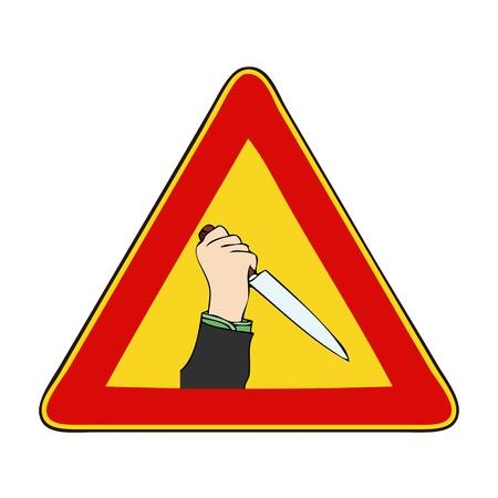 poner atencion: Precauci�n Asesinato en curso - Una se�al que le indica que debe prestar atenci�n a un asesinato en progreso Foto de archivo