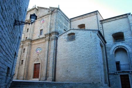 The church of Tempio Pausania - Sardinia - Italy Stock Photo - 15404416