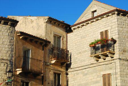 The houses of Tempio Pausania - Sardinia - Italy Stock Photo - 15404459