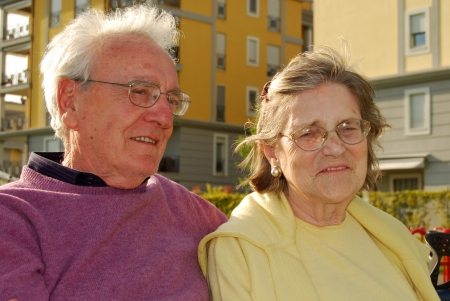 Two young elderly happy and serene - 274 photo