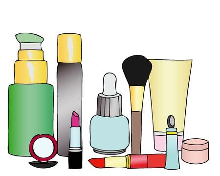 produits de beaut�: Produits de beaut� Banque d'images
