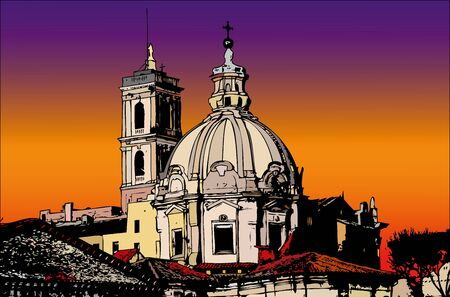Postcards of Italy - A view of Rome Stock Photo - 16731290
