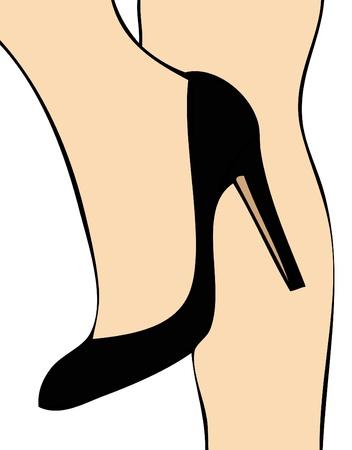 Black Shoe Stock Vector - 18199878