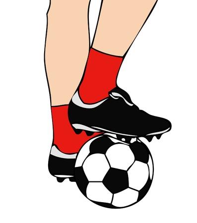 Voetbal Start Stock Illustratie