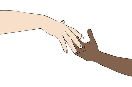 Contra el racismo  Foto de archivo - 19576688