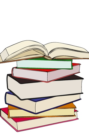 A nice stack of books Vector