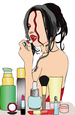 disturbing: Beauty and makeup Illustration