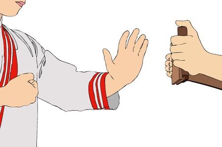 self defense: Entrenamiento de Karate