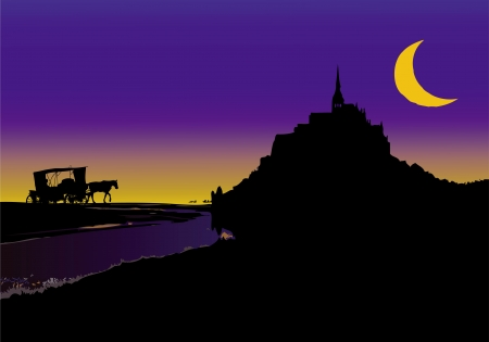 Fable in Mont Saint Michel Vector