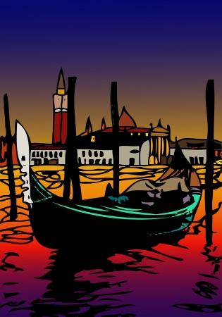 Gondole à San Marco Banque d'images - 20350659