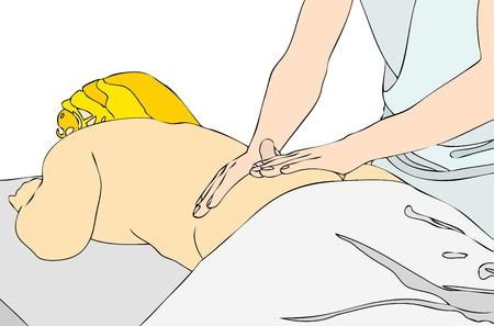 home care nurse: Back massage