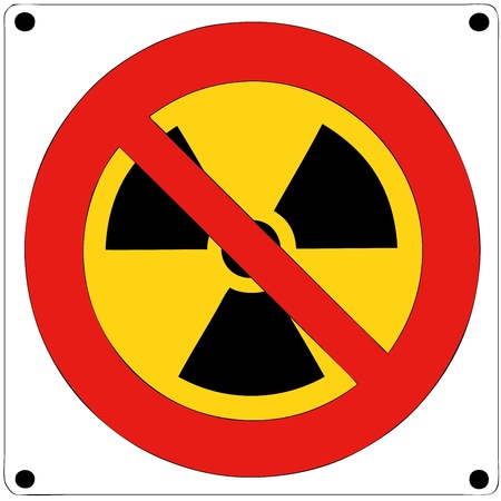 Prohibition of nuclear radiation photo