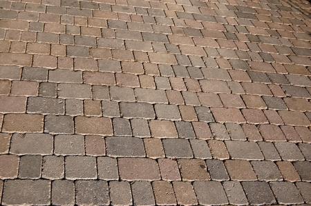 forniture: La geom�trica pavimentaci�n de la acera Foto de archivo