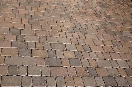 The paving geometric of a sidewalk Stock Photo - 21194072