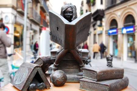 of homage: Homage to books and culture - Seville - Spain