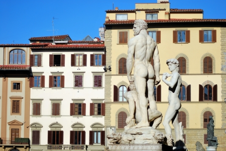 Florence - Signoria Square - Art and beauty - Tuscany - Italy - 177 Stock Photo
