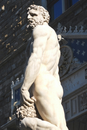 signoria square: Statue at Signoria Square, Florence Stock Photo