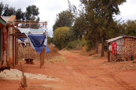 The Village of Pomerini - Tanzania - Africa - August 2013 Stockfoto