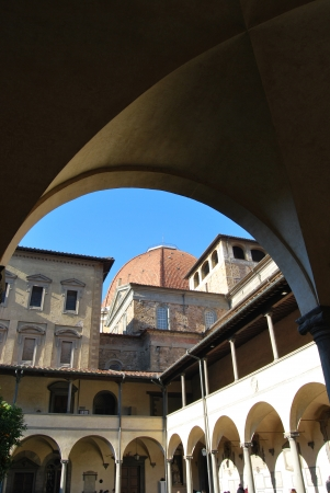 lorenzo: The ancient cloister of San Lorenzo in Florence - Tuscany - Italy