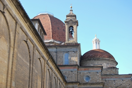 lorenzo: Visiting Florence - San Lorenzo church - Tuscany - Italy Stock Photo