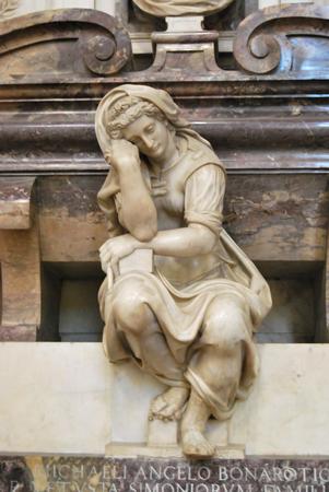Tomb of Michelangelo Buonarroti - Basilica of Santa Croce - Florence - Italy Stock Photo