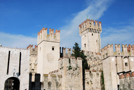 sirmione: The castle of Sirmione on Lake Garda - Brescia - Italy