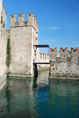sirmione: The castle of Sirmione on Lake Garda - Brescia - Italy