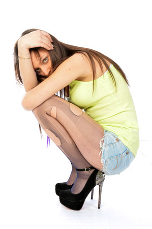 Despair and loneliness of a woman - The depressive loneliness of a desperate woman