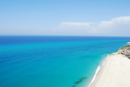 Sea and beach of Tropea - Calabria - Italy Stock Photo
