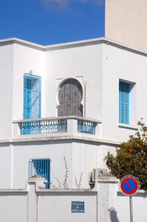 marsa: The Tunisian new homes in the district of La Marsa to Tunis - Tunisia Stock Photo