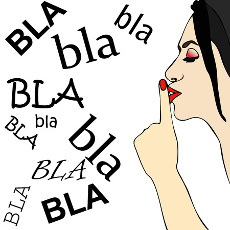 shut up: Too many chatter - A woman orders her to shut up
