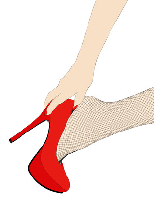 Sensual fishnet stockings Vector