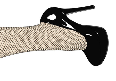 Shoes and fishnet stockings Vector