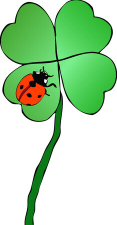 Luck on luck - Graphical representation of a lucky charm on top of another charm lucky