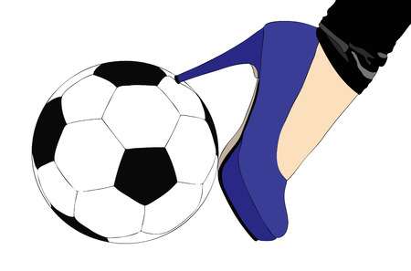 The fashion and Sport - Symbolic image of the combination between fashion and sport  Vector