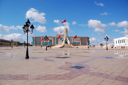 endorse: The Town Hall of Tunis and its large square