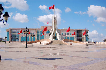townhall: The Town Hall of Tunis and its large square