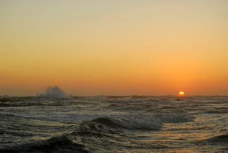 The Anzio beach with rough seas