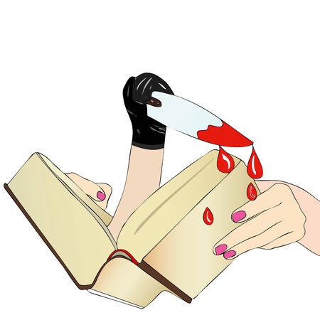 thriller: A Novel dangerous - A woman reads a detective novel