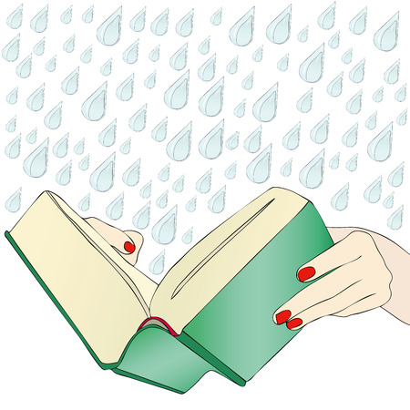 novel: A moving book - A woman reads the novel, a love story