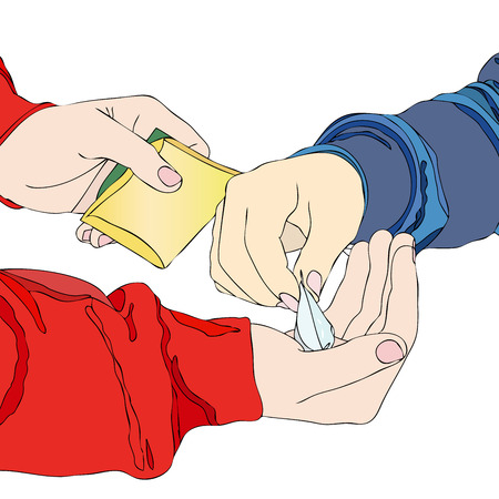 A drug dealer - A boy meets his pusher and pay for a packet of drugs