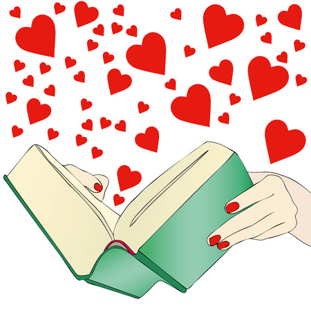 novel: Romance for Lovers - A woman reads the novel, a love story