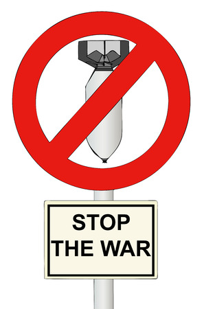 tyranny: Stop the War - A sign symbol to stop the war in the world  Illustration