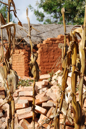 degradation: Houses and homes in the Village of Pomerini in Tanzania-Africa Stock Photo