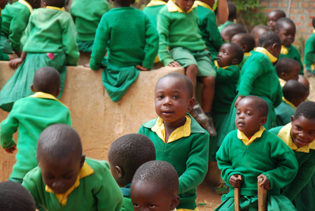african solidarity: August 2014 - Village of Pomerini - Tanzania - Africa - The African children in kindergarten built by the Franciscan Mission NPO Mawaki to give instruction and education to all children