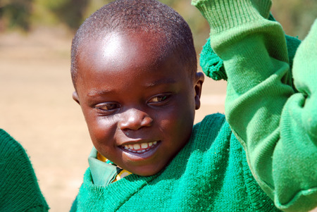 August 2014 - Village of Pomerini - Tanzania - Africa - The game of African children of asylum built in the Franciscan Mission of the Village of Pomerini in Tanzania.