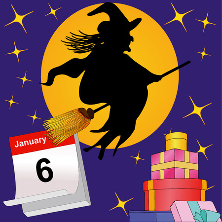 broomsticks: January 6, La Befana arrives on their broomsticks and brings many gifts to good children
