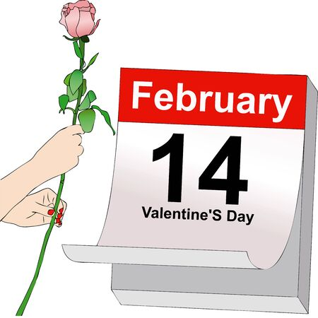 recurrence: Illustration symbolic representative of the Feast of Love in the Valentines day, February 14