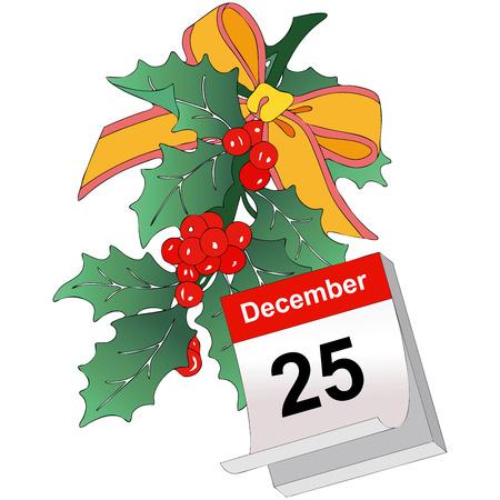 representing: Illustration representing a Christmas decoration